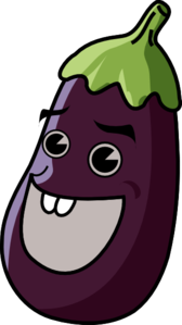 Cartoon Eggplant Clip Art