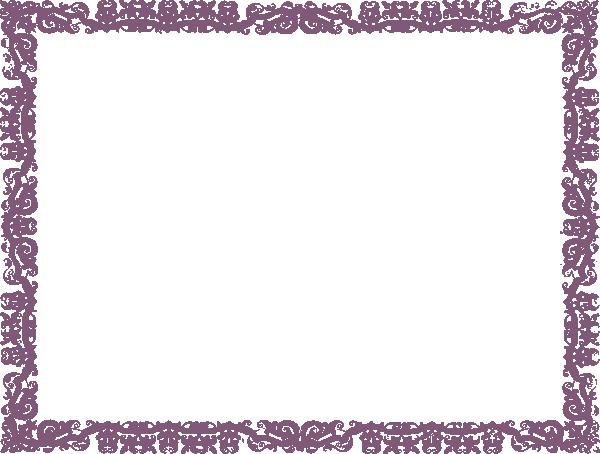 plum demasque border clip art at clkercom vector clip
