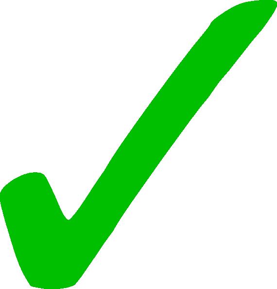 Transparent Green Checkmark Clip Art at Clker.com - vector clip ...