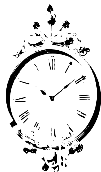 Antique Wall Clock Clip Art At Clker Com Vector Clip Art