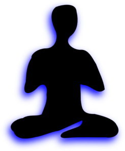 Yoga Sitting Cross Legged Clip Art