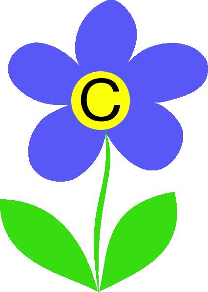 Blue Flower Letter C Clip Art At Clker Com
