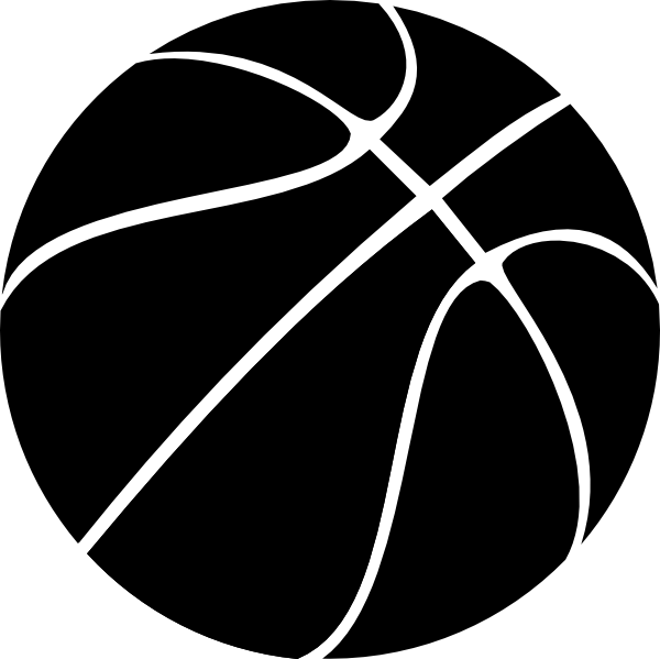 Black Basketball Ball Clip Art At Clker Com Vector Clip