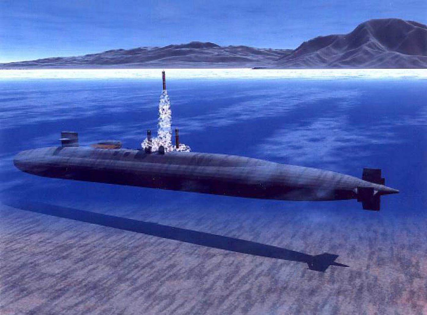 Illustration Of Uss Ohio (ssgn 726) Which Is Undergoing A Conversion From A Ballistic Missile