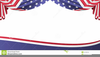 American Flag Banners Clipart Image