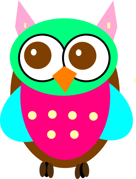Colorful Baby Owl Chick Clip Art at Clker.com - vector ...