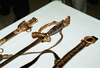 The Historic Worden Sword Rests On A Table With Its Belt And Scabbard Laid Out For Display. Image