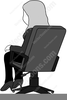 Man At Desk Clipart Image