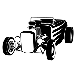 Free Clipart Of Hot Rods Image
