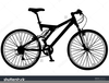 Bicycle With Training Wheels Clipart Image