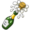 Ist Popping Champagne Bottle Image