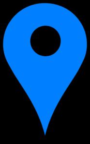 Blue Pin SVG Clip arts download - Download Clip Art, PNG