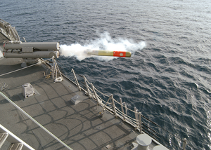 A Mk-46 Torpedo Is Launched From Uss Preble Ddg 88 Image