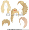Man With Long Hair Clipart Image