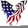 American Flag And Eagle Clipart Image