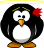 Innocent Penguin-being Shot Clip Art