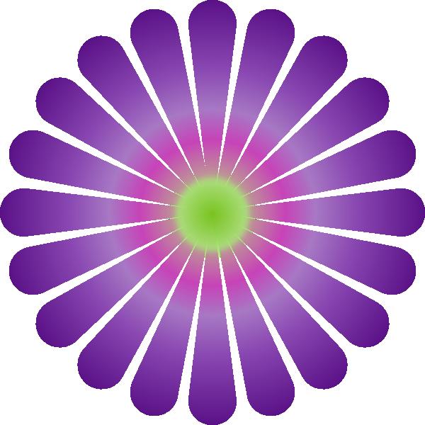 purple daisy clip art at clkercom vector clip art