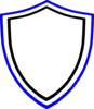 Blue And Black Shield Clip Art