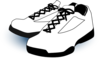 White Gym Shoes Clip Art