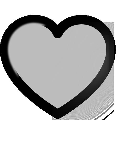 Grey Heart Clip Art At Clker Com Vector Clip Art Online