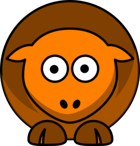 Sheep Brown Orange Two Toned Looking Straight Clip Art