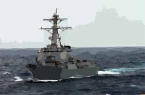 The Guided Missile Destroyer Uss Lassen (ddg 82) Underway In The Rough Seas Of The East China Sea Clip Art
