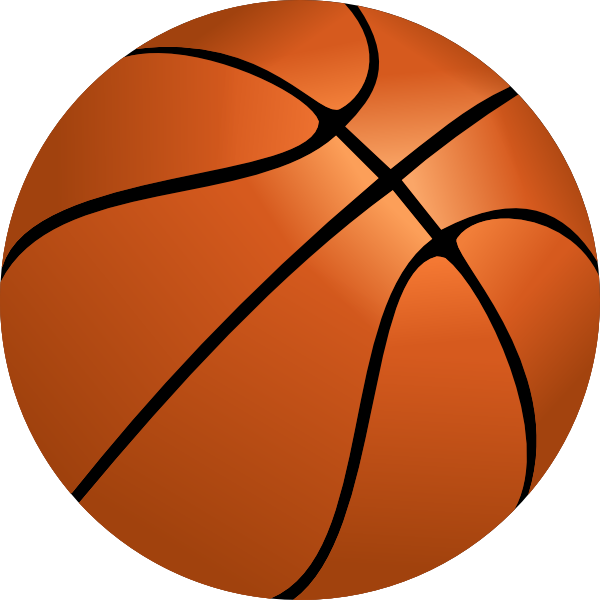 Basketball Clip Art at Clker.com - vector clip art online ... (600 x 600 Pixel)