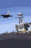 Uss Stennis - French Rafale Clip Art