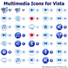 Multimedia Icons For Vista Image