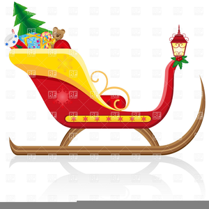 Santa Claus Sleigh Free Clipart | Free Images at Clker.com ...