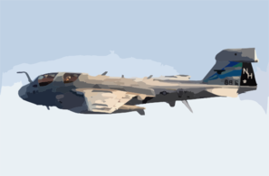 An Ea-6b Prowler Assigned To The  Black Ravens  Of Electronic Attack Squadron One Three Five (vaq-135) Lowers It S Tail Hook In Preparation For Landing. Clip Art