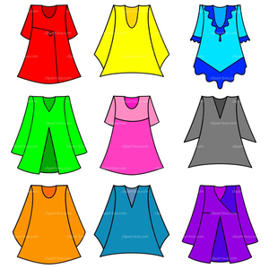 Warm Clothes Clipart Image