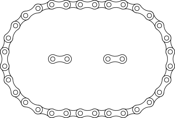 1 C Bike Chain Clip Art At Clker Com Vector Clip Art