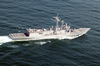 An Aerial View Of The U.s. Navy Guided Missile Frigate Uss Reuben James (ffg 57) Image