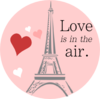 Love Is In The Air Eiffel Tower  Image