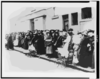 [women And Children Wait In A Bread Line In England] Clip Art