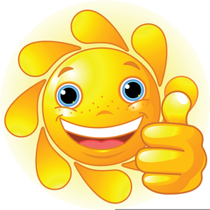 Free Smiling Sun Clipart Image