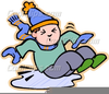 Slipping On Ice Clipart Image