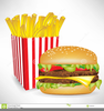 Burgers And Fries Clipart Image