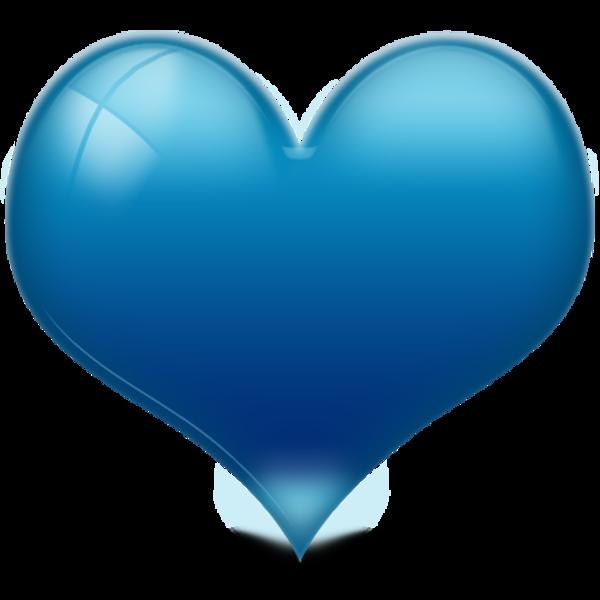 Heart D Shiny Blue Free Images At Clker Vector Clip Art