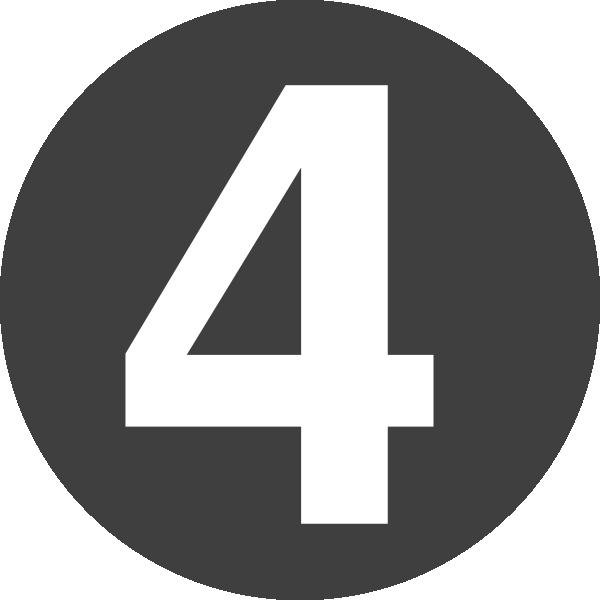 Number 4 Design Clip Art At Clker Com