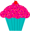 Pink Frosted Cupcake Clip Art