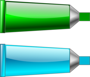 Color Tube Green Cyan Clip Art