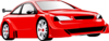 Red Car Party Clip Art