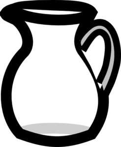 Empty Water Pitcher Clip Art At Clker Com Vector Clip