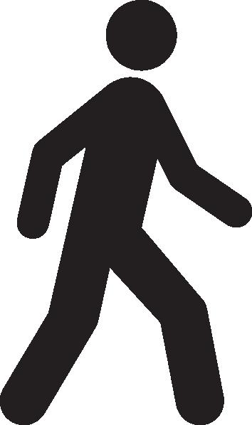Walking Icon Clip Art at Clker.com - vector clip art ...
