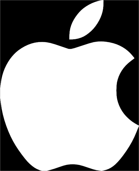 White Apple Logo On Black Background Clip Art at Clker.com ...