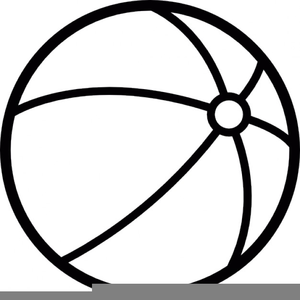 Black And White Beach Ball Clipart Free Images At Clker Com