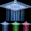 Chrome Finish Contemporary Rectangular Colors Led Shower Head--faucetsuperdeal.com Image