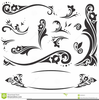 Calligraphy Swirl Clipart Image
